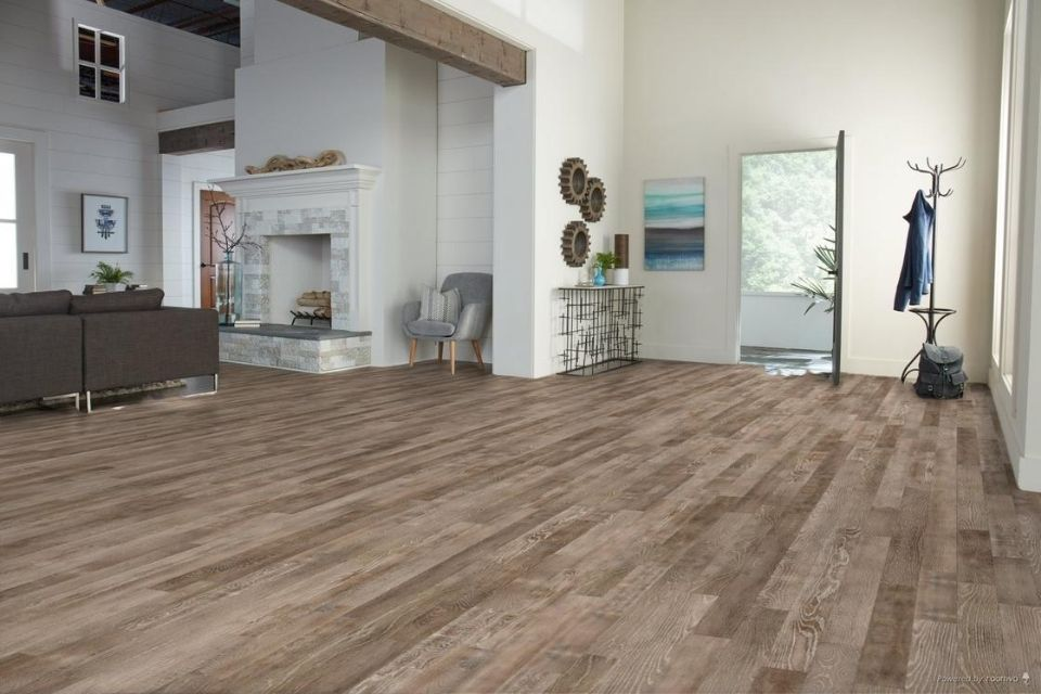 Farmhouse vinyl plank flooring