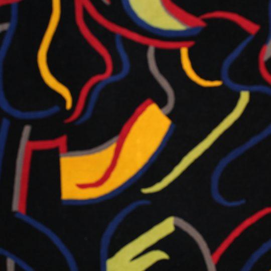 """COURISTAN SOHO VISIONARY BLACK 5'6""""X8'"""